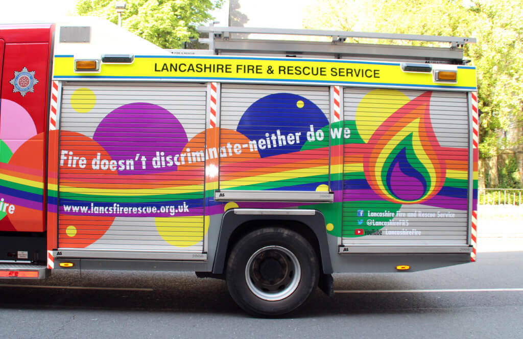 Fire Engine at Lancaster Pride